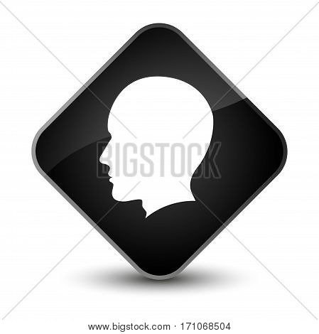 Head Male Face Icon Special Black Diamond Button