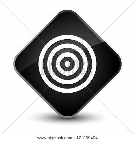 Target Icon Special Black Diamond Button