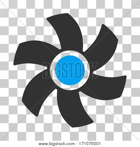 Rotor icon. Vector illustration style is flat iconic bicolor symbol blue and gray colors transparent background. Designed for web and software interfaces.