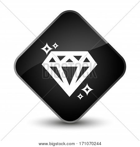 Diamond Icon Special Black Diamond Button