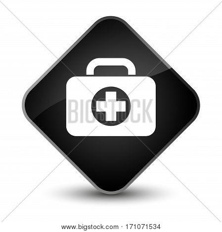 First Aid Kit Bag Icon Special Black Diamond Button