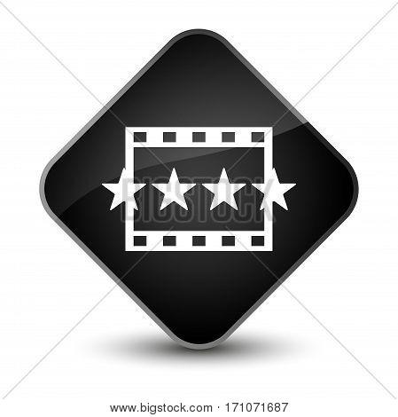 Movie Reviews Icon Special Black Diamond Button