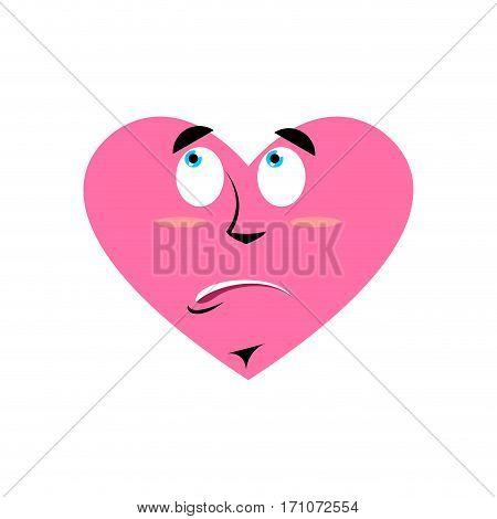 Loves Urprised Emoji. Heart Astonished Emotion Isolated