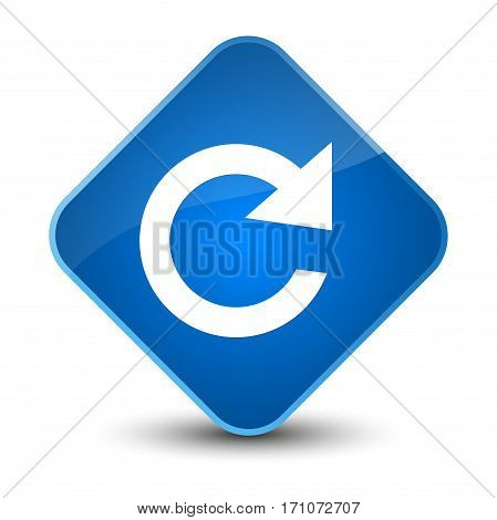 Reply Rotate Icon Special Blue Diamond Button