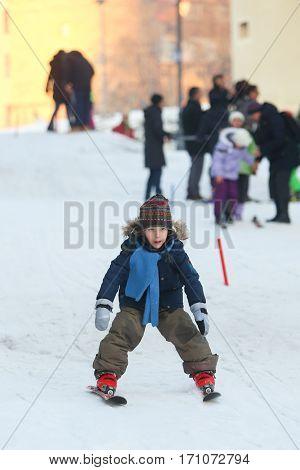 Boy Skiing In Bakaceva