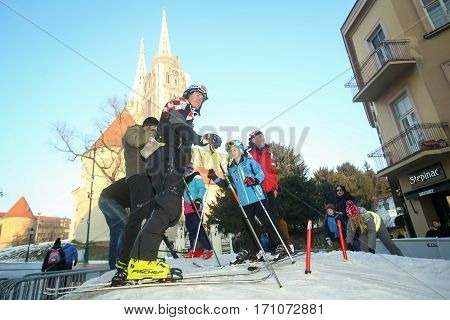 Children Skiing In Bakaceva