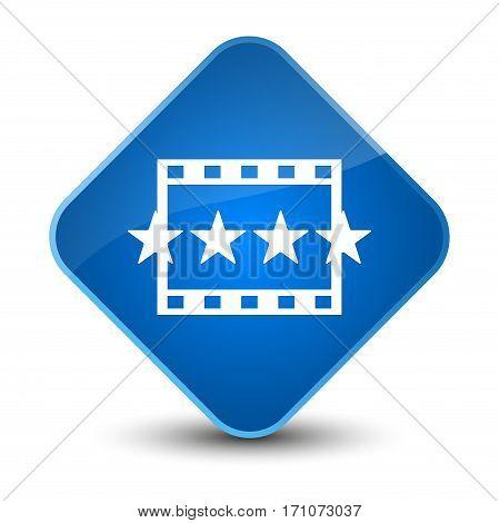 Movie Reviews Icon Special Blue Diamond Button