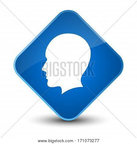 Head Men Face Icon Special Blue Diamond Button