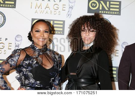 LOS ANGELES - FEB 10:  Lynn Whitfield, Grace Gibson at the Non-Televisied 48th NAACP Image Awards at Pasadena Conference Center on February 10, 2017 in Pasadena, CA