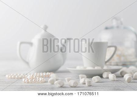 White Marshmallow On Table
