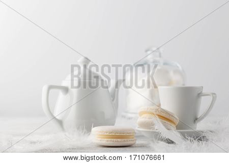 Breakfast With White Marshmallow