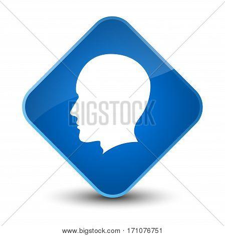 Head Male Face Icon Special Blue Diamond Button