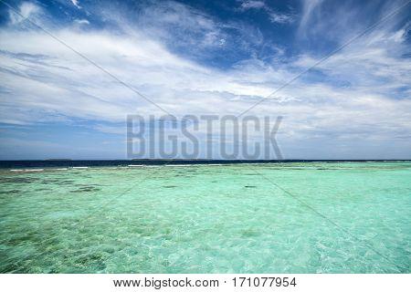 Beautiful landscape of Indian ocean, Maldives island