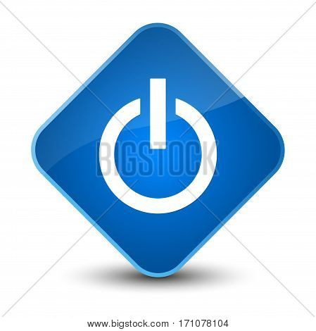 Power Icon Special Blue Diamond Button
