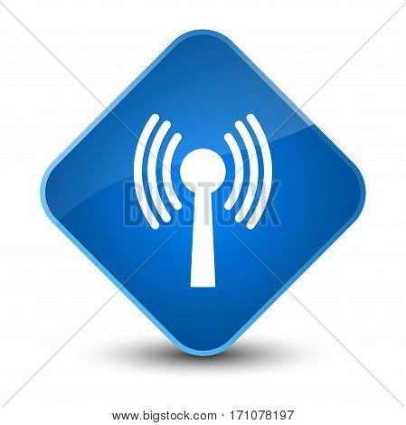 Wlan Network Icon Special Blue Diamond Button