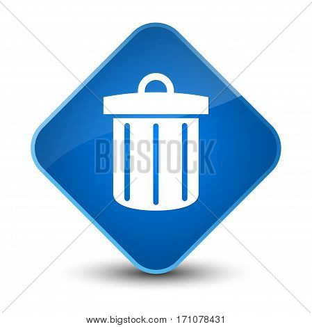 Recycle Bin Icon Special Blue Diamond Button