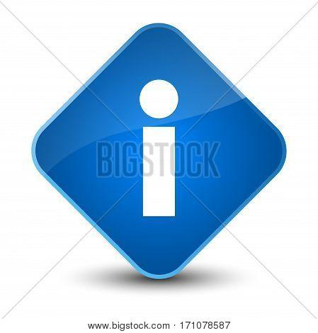 Info Icon Special Blue Diamond Button