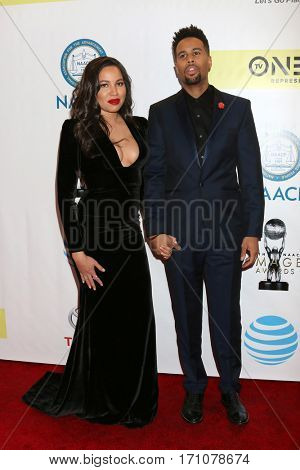 LOS ANGELES - FEB 11:  Jurnee Smollett-Bell, Josiah Bell at the 48th NAACP Image Awards Arrivals at Pasadena Conference Center on February 11, 2017 in Pasadena, CA