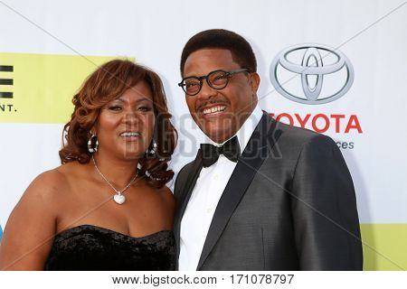 LOS ANGELES - FEB 11:  Linda Reese Mathis, Greg Mathis at the 48th NAACP Image Awards Arrivals at Pasadena Conference Center on February 11, 2017 in Pasadena, CA