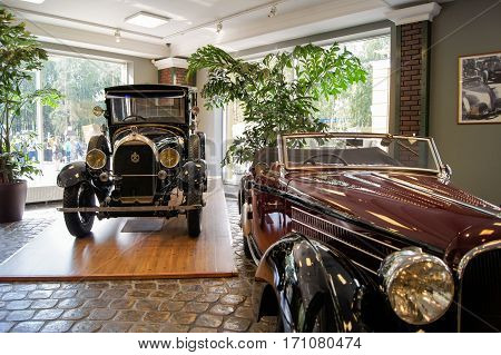 Moscow, Russia - 3 September, Museum of old cars, 3 September, 2016. Museum of military equipment and retro cars.