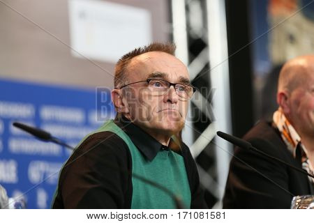 British director Danny Boyle attends the 'T2 Trainspotting' press conference during the 67th Berlinale International Film Festival Berlin at Grand Hyatt Hotel on February 10, 2017 in Berlin, Germany.