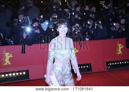Anjela Nedyalkova attends the 'T2 Trainspotting' premiere during the 67th Berlinale Film Festival Berlin at Palace on February 10, 2017 in Berlin, Germany.