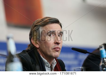 Actor Steve Coogan attends the 'The Dinner' press conference during the 67th Berlinale International Film Festival Berlin at Grand Hyatt Hotel on February 10, 2017 in Berlin, Germany.
