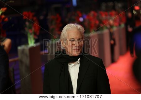 Richard Gere attends the 'The Dinner' premiere during the 67th Berlinale International Film Festival Berlin at Berlinale Palace on February 10, 2017 in Berlin, Germany.