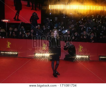Clemence Poesy attends the 'Final Portrait' premiere during the 67th Berlinale  Festival Berlin at Berlinale Palace on February 11, 2017 in Berlin, Germany.