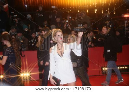Blogger Sarah Nowak  attends the 'Final Portrait' premiere during the 67th Berlinale  Festival Berlin at Berlinale Palace on February 11, 2017 in Berlin, Germany.