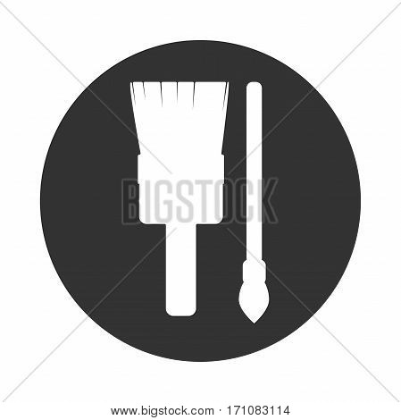 Icon paintbrush black and white renovation illustration