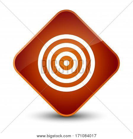 Target Icon Special Brown Diamond Button