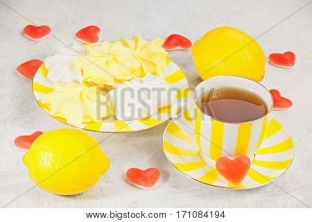 Delicious Delicious Breakfast Valentine's Day In Beautiful Plate