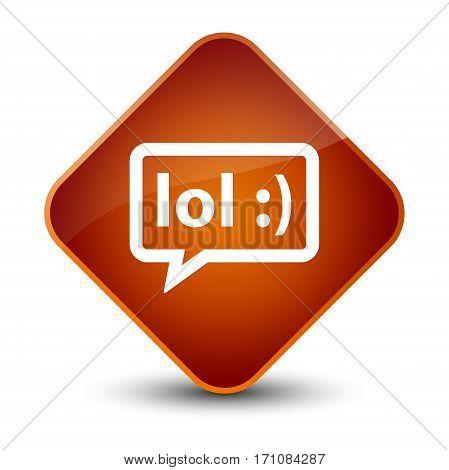 Lol Bubble Icon Special Brown Diamond Button