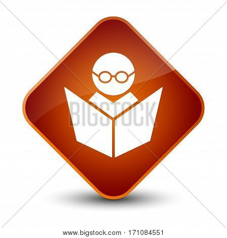 Elearning Icon Special Brown Diamond Button