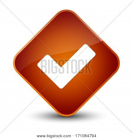 Validate Icon Special Brown Diamond Button