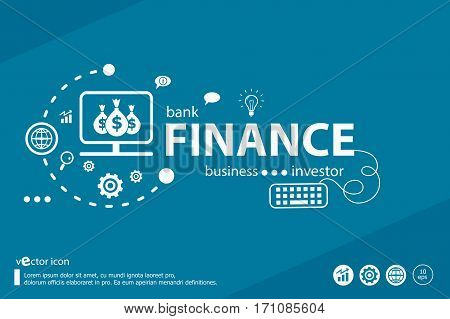 Finance Related Words And Marketing Concept. Infographic Business.
