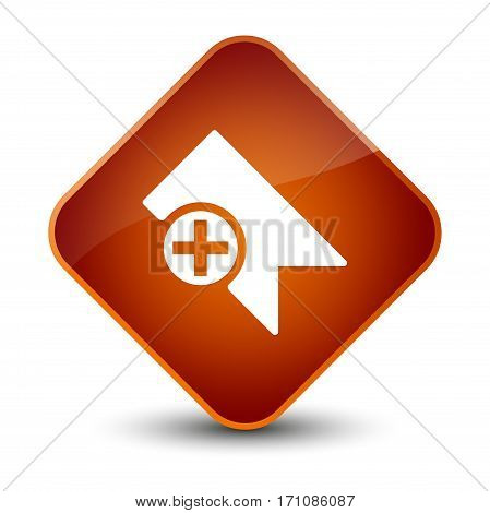 Bookmark Icon Special Brown Diamond Button