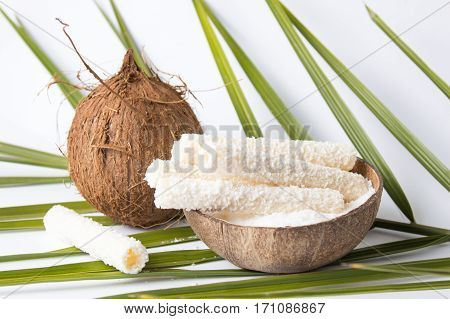 Coconut Rollers In A Shell