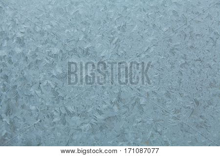 Beautiful Frosted Window To  Background
