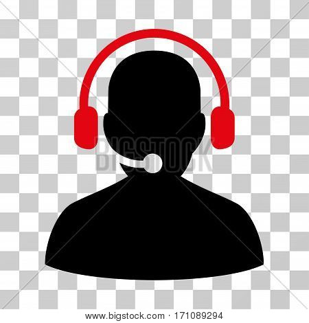 Telemarketing icon. Vector illustration style is flat iconic bicolor symbol intensive red and black colors transparent background. Designed for web and software interfaces.