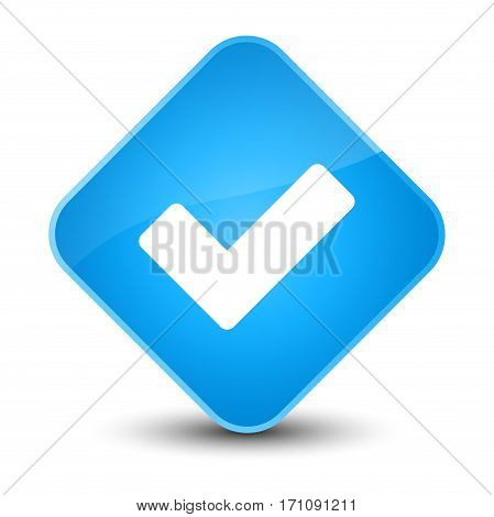 Validate Icon Special Cyan Blue Diamond Button