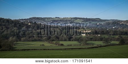 View on the City Bath in Somerset.England.
