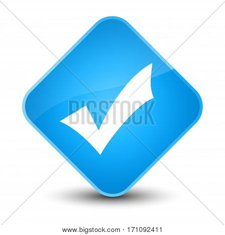Validation Icon Special Cyan Blue Diamond Button