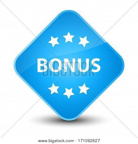 Bonus Icon Special Cyan Blue Diamond Button