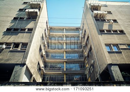 BELGRADE, SERBIA, JULY 4, 2017: Detail of an apartment from Yugoslavian communist era, Belgrade, Serbia.