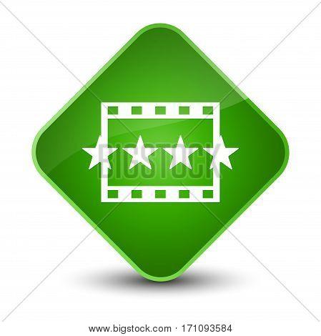 Movie Reviews Icon Special Green Diamond Button