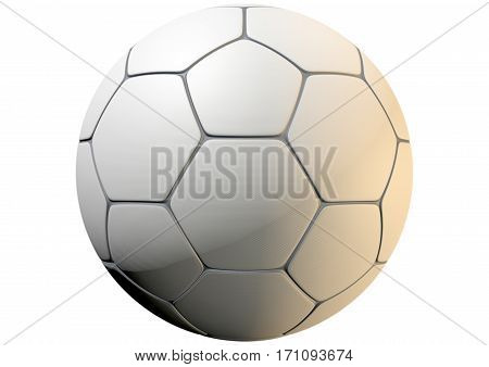 Textured Soccer Ball Closeup