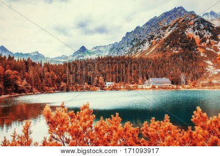 Fantastic Shtrbske Pleso High Tatras. Slovakia Europe