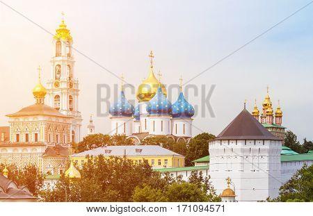 The Trinity Lavra of St. Sergius is the most important Russian monastery and the spiritual centre of the Russian Orthodox Church. The monastery is situated in the town of Sergiyev Posad.